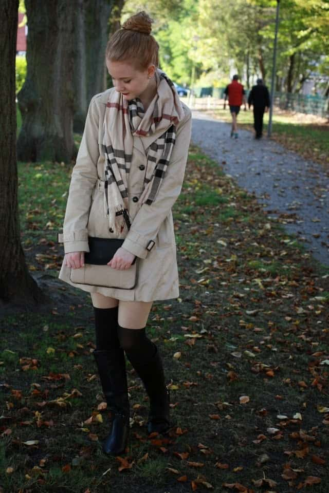 Floral Fascination Deutscher Modeblog Fashionblog Herbst Outfit Outfit Style Look Trenchcoat Overknees Preppy Stiefel