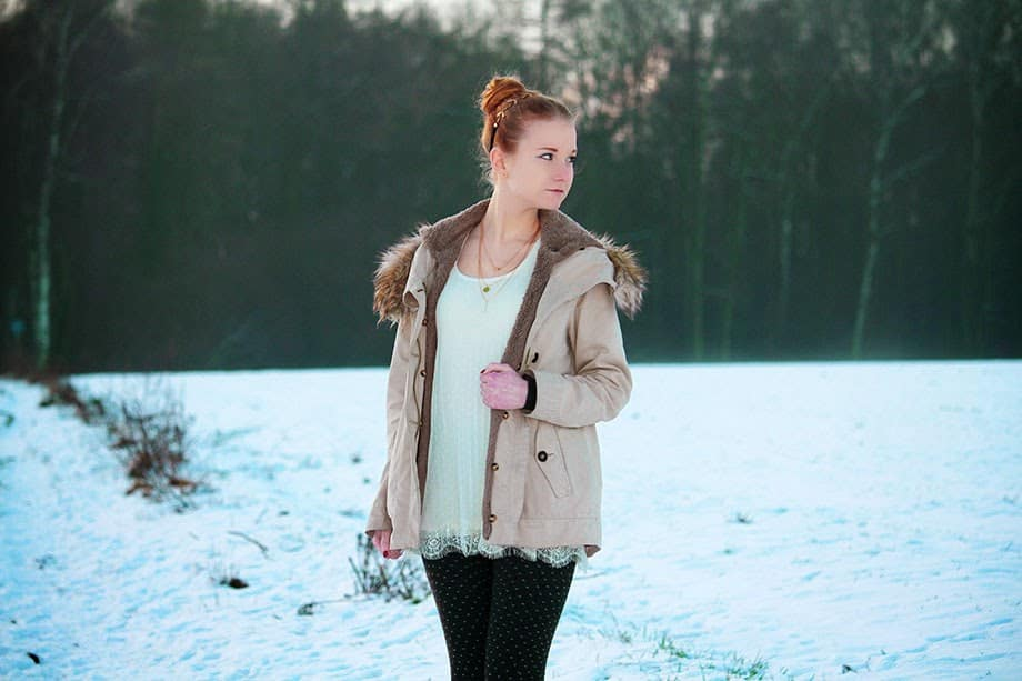 Süßes Schnee Outfit