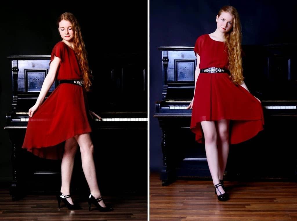 Perfektes Outfit für den Valentinstag Kleid Rot Hohe Schuhe Modeblog