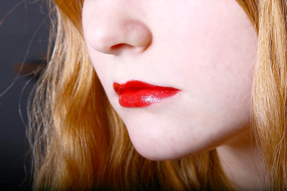 Rote Lippen für das perfekte Valentinstags Make up