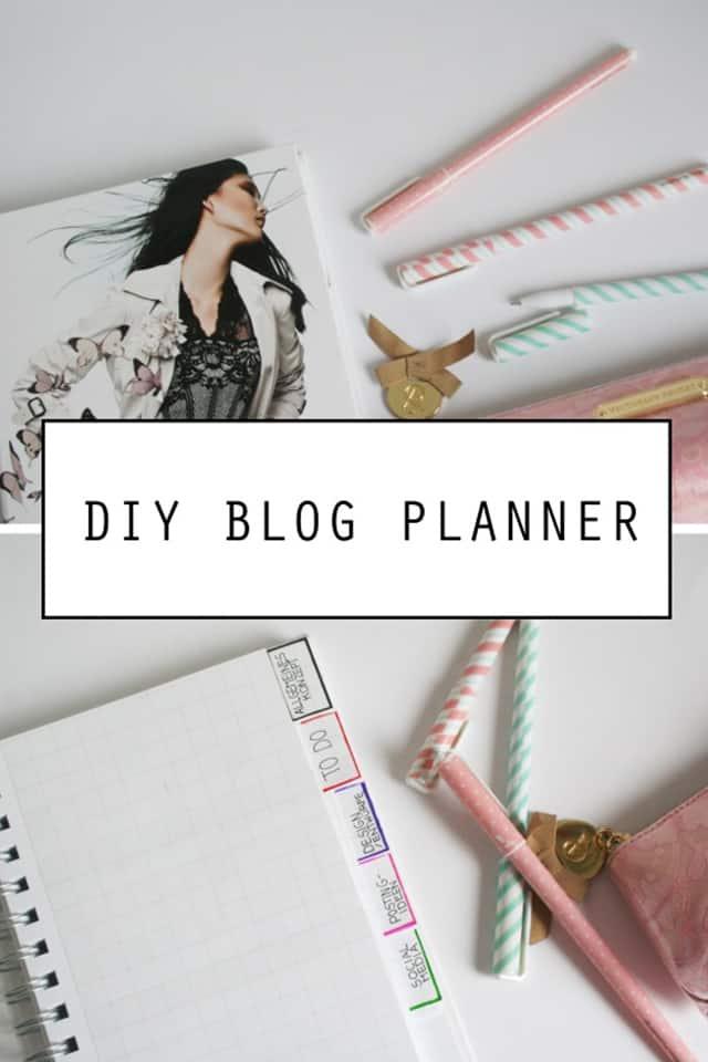 DIY Blogplaner selbst gestalten