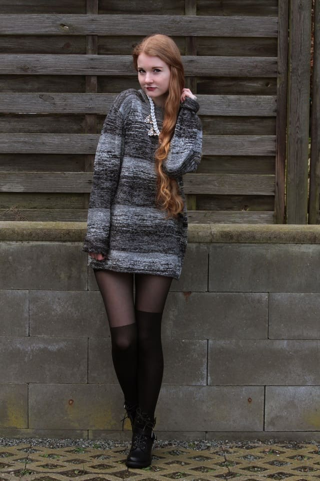 Oversized Sweater Overknees Outfit