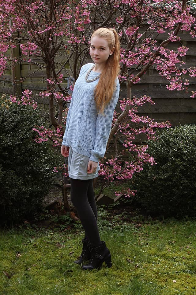 Baby Blue Cherry Blossoms Floral Fascination Fashionblog Bremen Outfit
