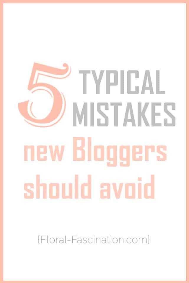 Blog Tipps für Anfänger typische Fehler
