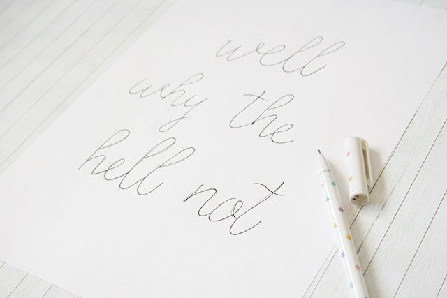 DIY Calligraphy for your Home