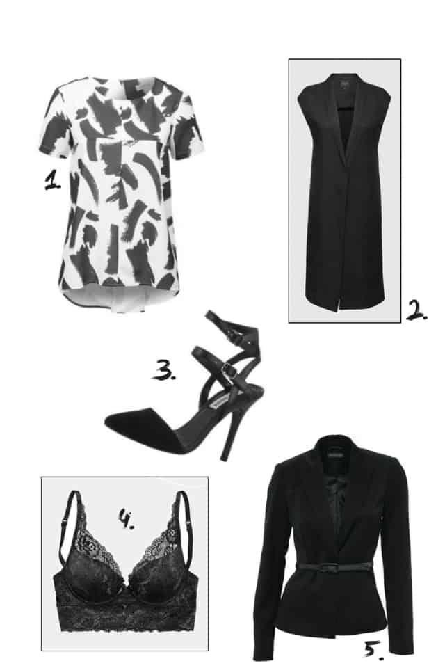 Sale Winter 2015 Trends Schwarz Grau Produkt Collage Tracdelight