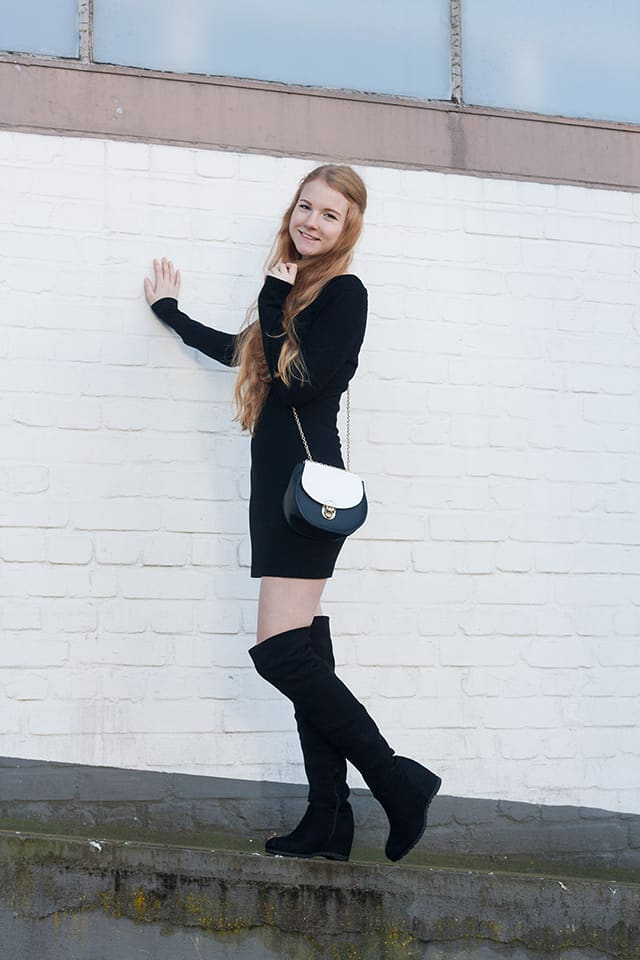 outfit schwarze overknee stiefel fee schoenwald modeblog aus bremen oldenburg. Black Bedroom Furniture Sets. Home Design Ideas