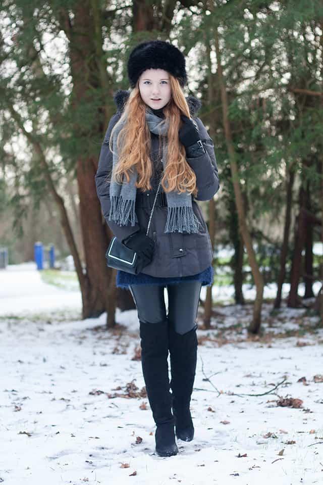 Kunstfellmütze Pelzmütze kombinieren Alltag alltagstauglich Winter Outfit 2016 Fashionblog Oldenburg