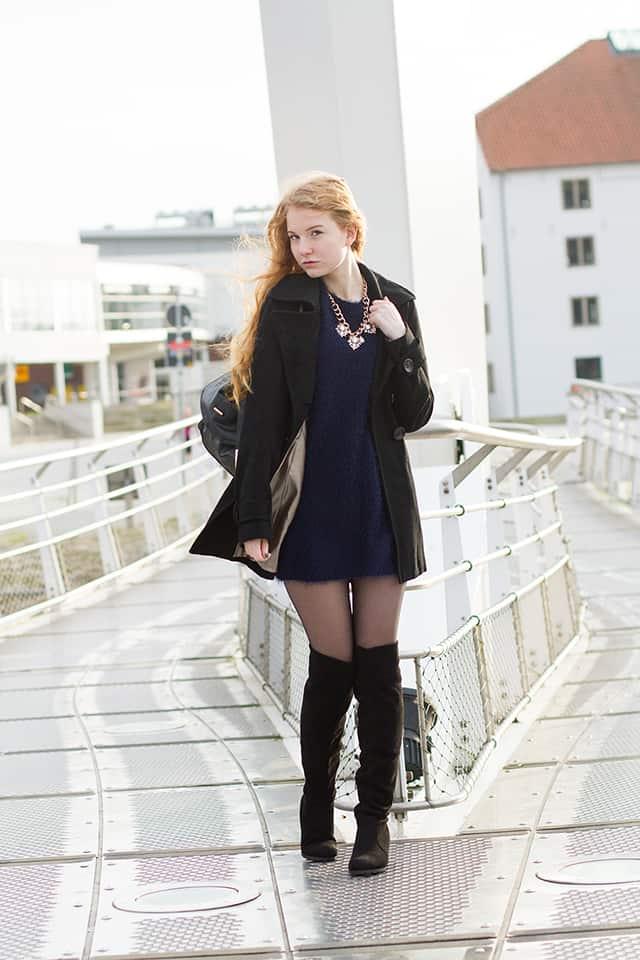 {Outfit} Winterlich mit Overknees und Pulloverkleid | Fee Schoenwald Modeblog aus Bremen ...