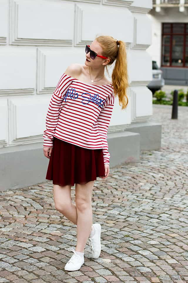 Gute Laune Sommer Outfit in rot Modeblog Oldenburg