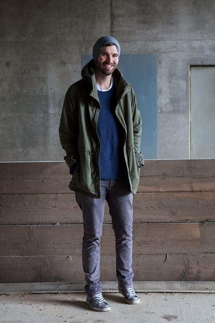Männer Mode Herbst Outfit Parka