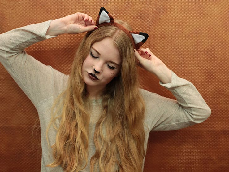 Fuchs Kostüm selber machen Make Up Tutorial Karneval Fasching