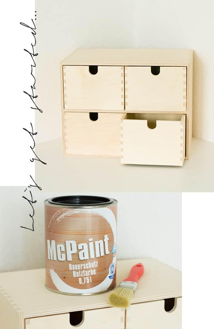 Ikea Hack DIY Schminkkommode Moppe Kupfer Upcycling -1
