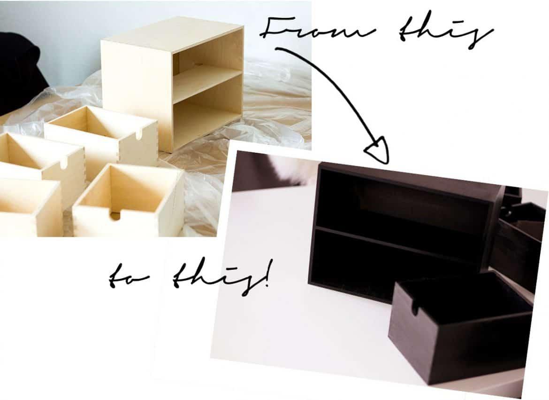 Ikea Hack DIY Schminkkommode Moppe Kupfer Upcycling