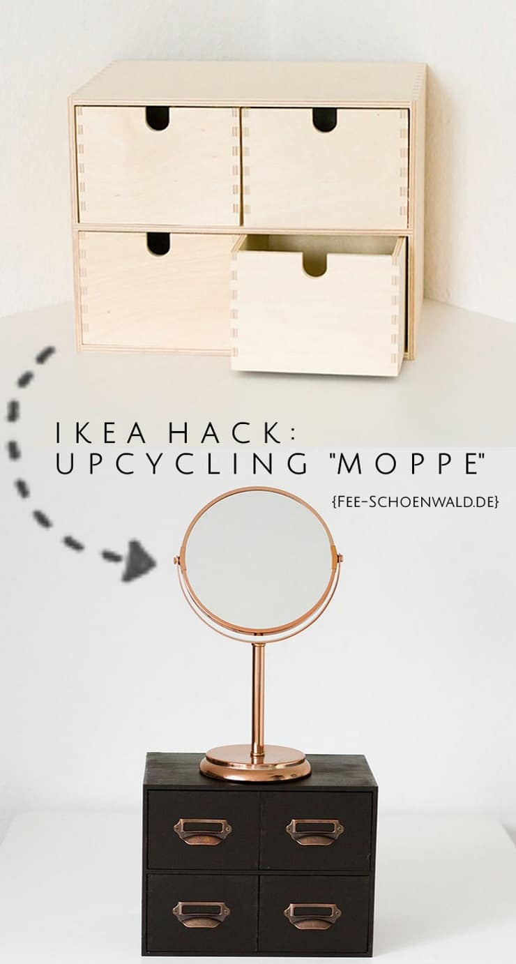 diy ikea upcycling von der moppe kommode zum schminkplatz fee schoenwald foto tipps f r. Black Bedroom Furniture Sets. Home Design Ideas