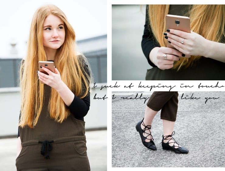 Outfit Mango Casual Overall Khaki Jeden Tag Off Shoulder Flache Schuhe Stylisch