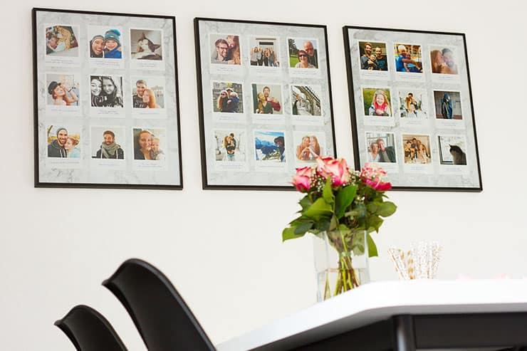 Bilderwand Dekorieren mit Polaroids Online-Foto.de Retro Prints