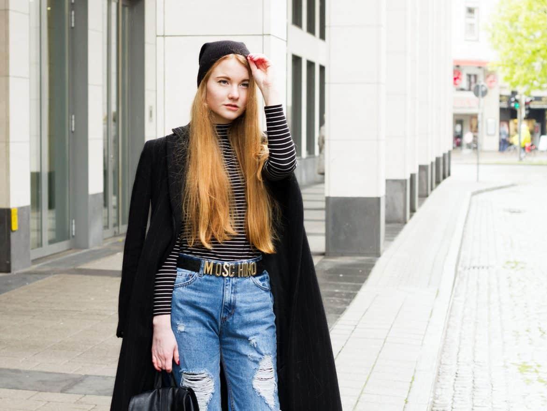 Outfit Mom Jeans Moschino Gürtel Streetstyle Bremen Modeblogger