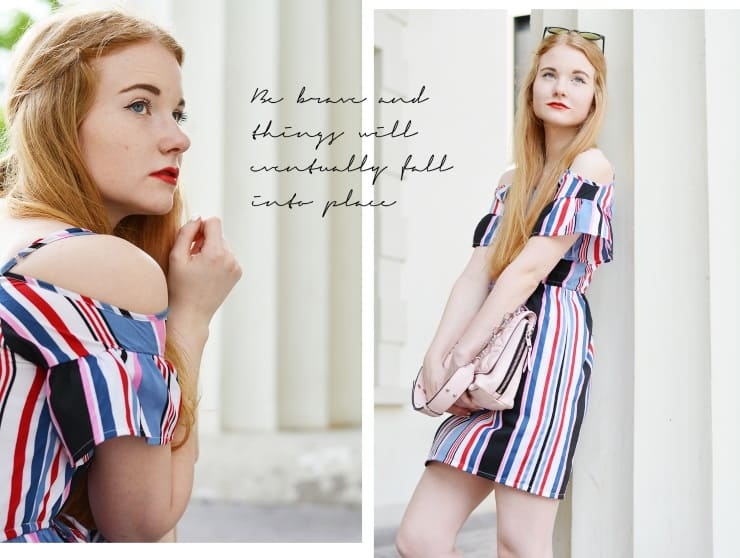 Modeblog Hamburg Praktikum Umzug Outfit Bold Stripes Sommer 2017