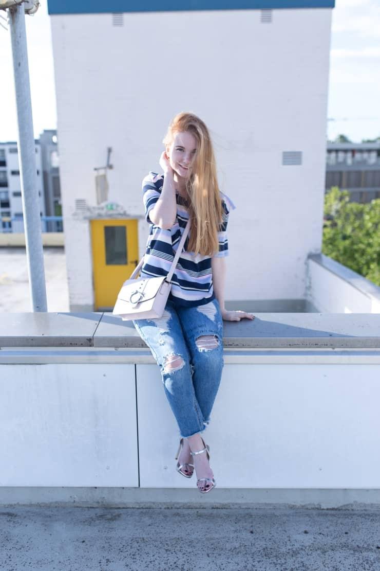 Outfit Bold Stripes Bunte Streifen Modeblog Oldenburg Streetstyle