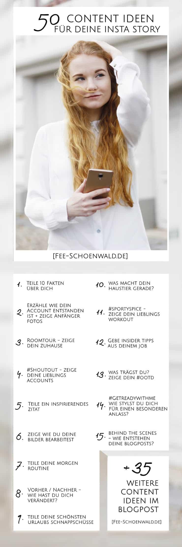 Fee Schoenwald Blogger Tipps 50 Content Ideen Insta Story