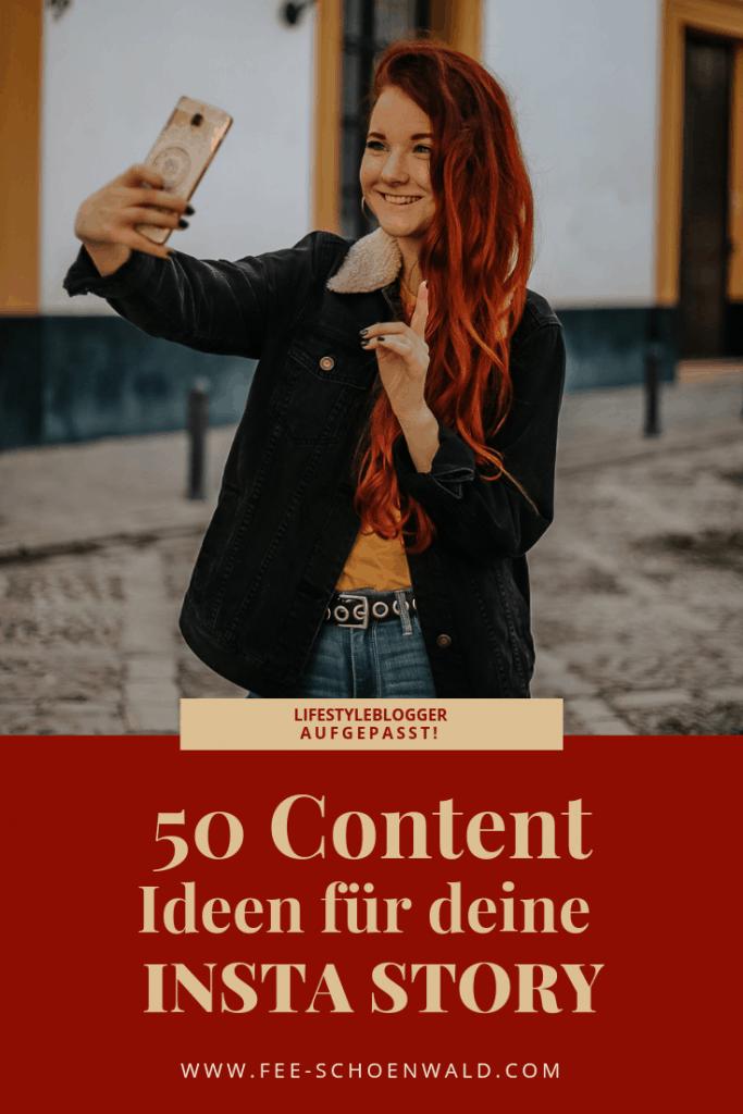 Fee Schoenwald Insta Story Content Ideen