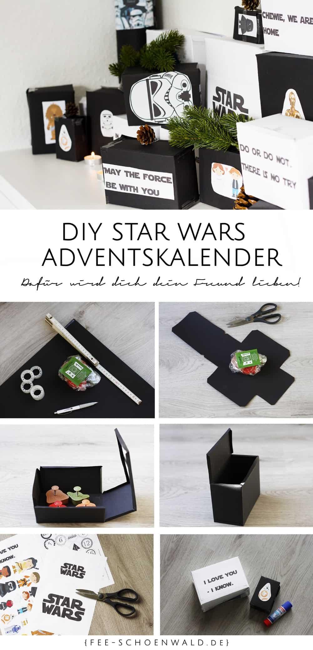 Fee Schoenwald deutscher Mode Lifestyle Blog DIY Tutorial Star Wars Kalender für Männer basteln selbst machen Weihnachten