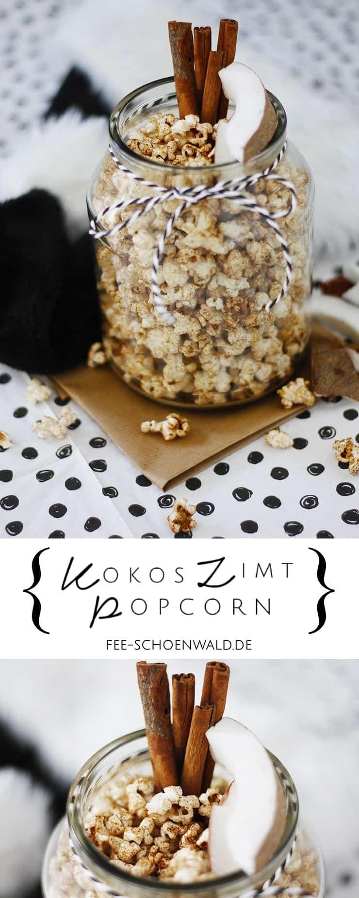 Kokos Zimt Popcorn Rezept Weihnachten