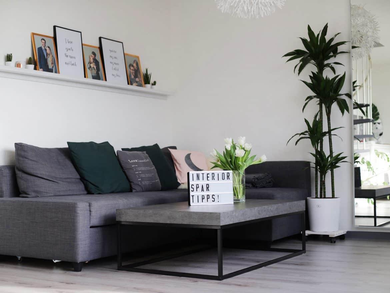 Geld sparen Wohnungeinrichtung Möbel Tipps
