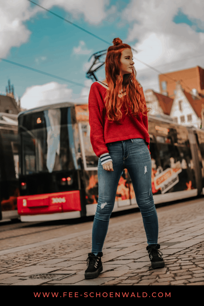 Fee Schoenwald Bloggerin Bremen Streetstyle rote Haare Hollister Waterfront