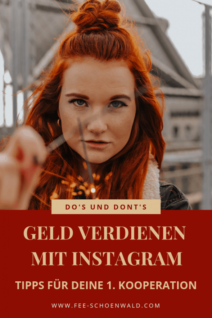 Instagram Kooperation Tipps mit sponsored Posts Geld verdienen Fee Schoenwald