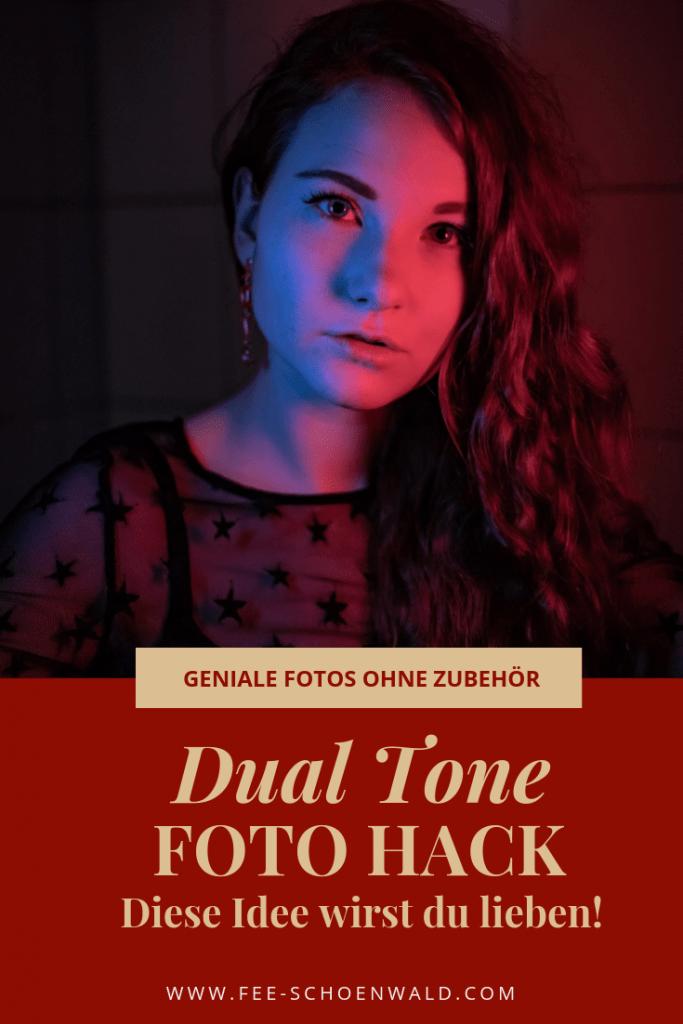 Dual Tone Foto Hack Low Budget Porträt Fotografie kreativ Tipp Fee Schoenwald