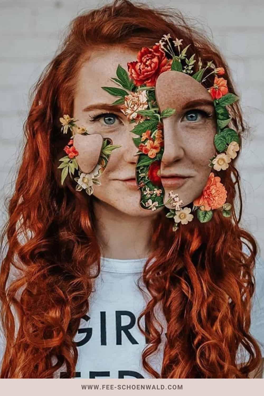 Fotoidee Blumen Gesicht Fee Schoenwald