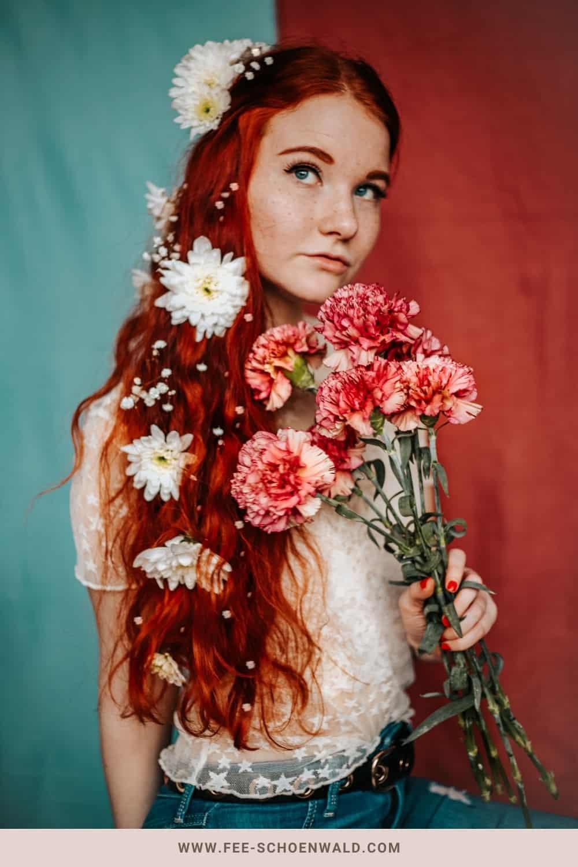 Fotoidee Blumenstrauß Fee Schoenwald