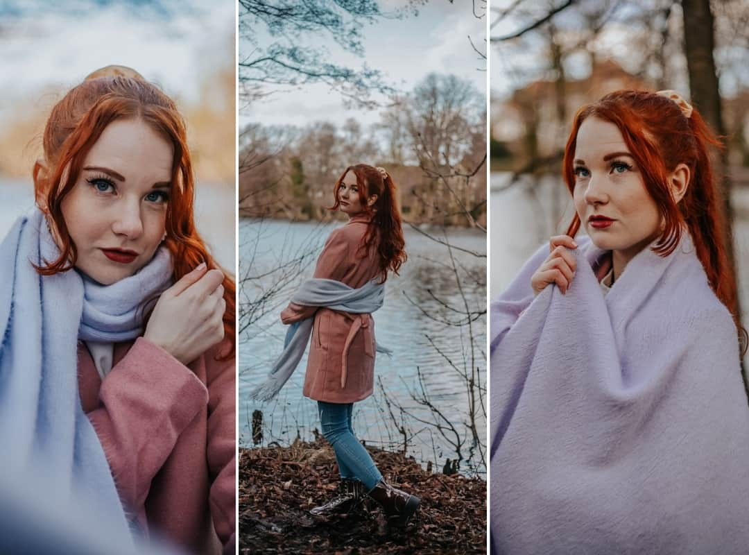 Collage Tipps Posing mit Schal Fee Schoenwald