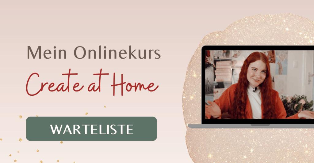 Fee Schoenwald Create at Home Onlinekurs Warteliste